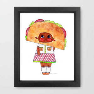 "Tuesday Tamale Illustration Print - 8.5""x11"" or 5""x7"""