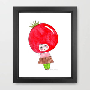 "Shy Heirloom Illustration Print - 8.5""x11"" or 5""x7"""