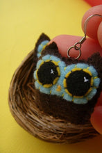 Load image into Gallery viewer, Owly Earrings - Eco-friendly Felt Mini Plush Owl Earrings