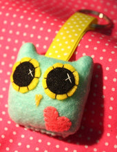 Load image into Gallery viewer, Owly Love Keychain - Eco-friendly Felt Plush Owl Keychain **As seen on Orphan Black**