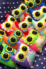 Load image into Gallery viewer, Custom Made Little Owling - Eco-Friendly Felt Plush Owl in Your Choice of Colours