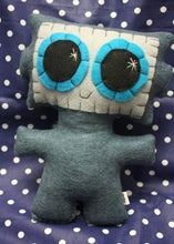 Load image into Gallery viewer, Needling Robot - Eco-friendly Felt Plush Robot with Big Kawaii Turquoise Eyes
