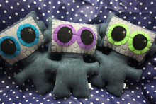 Load image into Gallery viewer, Needling Robot - Eco-friendly Felt Plush Robot with Big Kawaii Purple Eyes