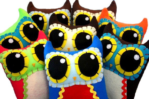 Custom Owl Mama - Eco-friendly Felt Plush Owl in Your Choice of Colours