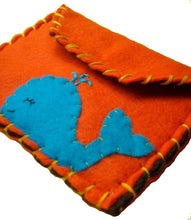 Load image into Gallery viewer, Whale Snap Pouch - Eco-friendly Felt Owl Wallet/Pouch