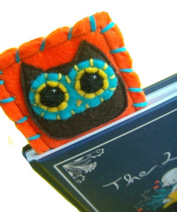 Owly Bookmark - Eco-friendly Felt Owl Bookmark