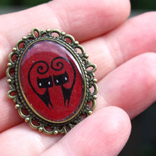Load image into Gallery viewer, I Love Kitties Pin (Available in black or burgundy)