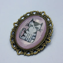 Load image into Gallery viewer, Striped Kitty Pin