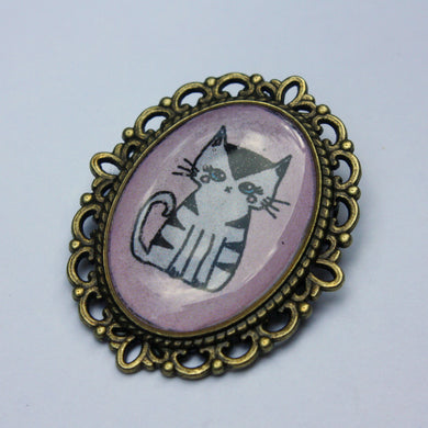 Striped Kitty Pin