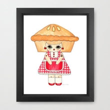 "Load image into Gallery viewer, Penelope Gingham Illustration Print - 8.5""x11"" or 5""x7"""