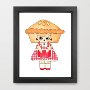 "Penelope Gingham Illustration Print - 8.5""x11"" or 5""x7"""
