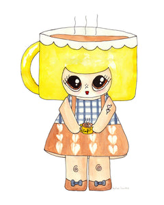 "Cuppa Wakerson Illustration Print - 8.5""x11"" or 5""x7"""