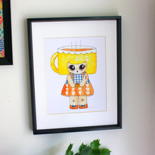 "Load image into Gallery viewer, Cuppa Wakerson Illustration Print - 8.5""x11"" or 5""x7"""
