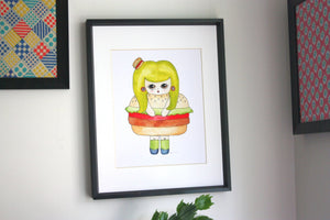 "Patty Picklebuns Illustration Print - 8.5""x11"" or 5""x7"""