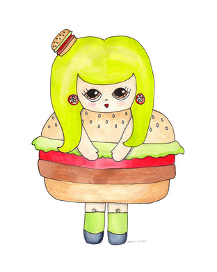 Patty Picklebuns Illustration Print - 8.5