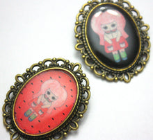 Load image into Gallery viewer, Aqua Roja - Watermelon Girl Pin - Black or Pink