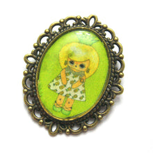Load image into Gallery viewer, Callie Tropica - Pineapple Girl Pin - Black or Green