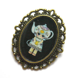 Sophia Love - Teapot Girl Pin