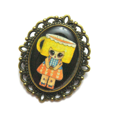 Cuppa Wakerson - Coffee Girl Pin