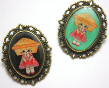 Load image into Gallery viewer, Penelope Gingham - Pie Girl Pin - Black or Mint