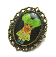 Load image into Gallery viewer, Vita D - Salad Girl Pin - Black or Gold