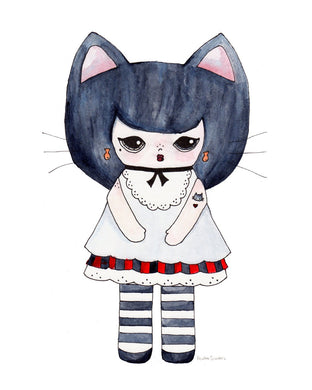 Kat Gato Illustration Print - 8.5