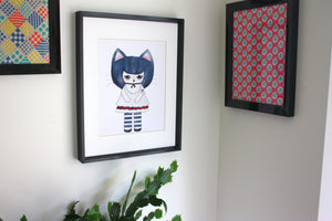 "Kat Gato Illustration Print - 8.5""x11"" or 5""x7"""