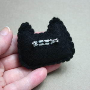 Black Kitty Felt Plush Pin