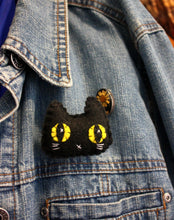 Load image into Gallery viewer, Black Kitty Felt Plush Pin