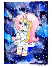 Load image into Gallery viewer, Rayna Unisky - Unicorn in Space Girl Pin