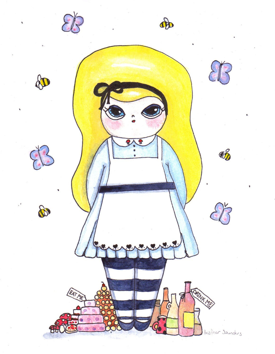 Alice in Wonderland Illustration Print - 8.5