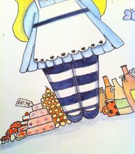 "Load image into Gallery viewer, Alice in Wonderland Illustration Print - 8.5""x11"" or 5""x7"""