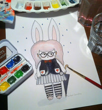 "Load image into Gallery viewer, The White Rabbit Illustration Print - 8.5""x11"" or 5""x7"""
