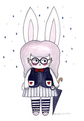 The White Rabbit Illustration Print - 8.5