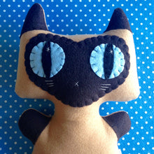 Load image into Gallery viewer, Big Siamese Minou Kitty - Eco-friendly Felt Plush Kitty