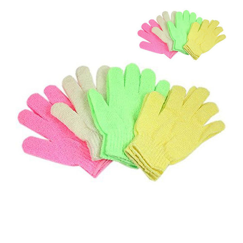 Pair of Bath Body Shower Exfoliating Gloves (Random Color)