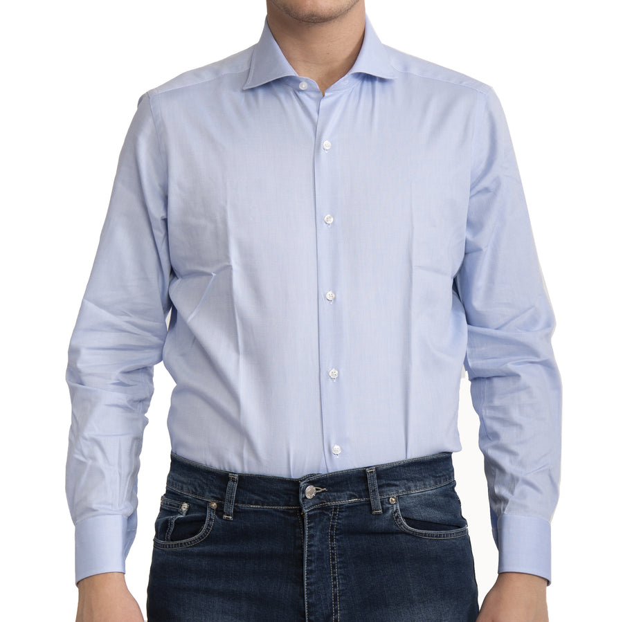Camicia celeste oxford VP in Cotone