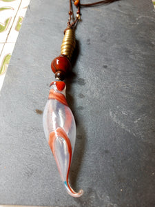 Uni-Corn blown pendant