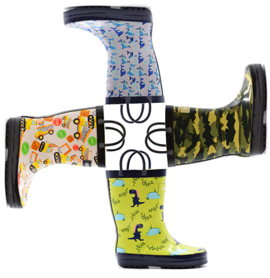 Patterned Loop Boots - Boys