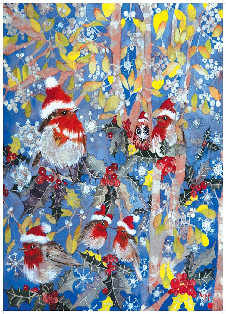 Wrapping Paper - Robins In Mistletoe - WR_02