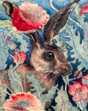 Poly Soft Touch Velvet - Hares in Poppies - PS_08