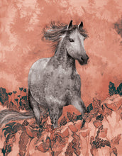 Horse - Dapple grey - Greeting Card - V_120
