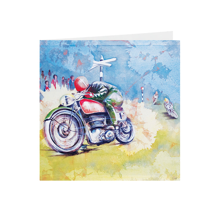 Motorbike - Racer No 1 - Greeting Card - S_01