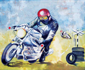 Motorbike - Racer - Greeting Card - S_03