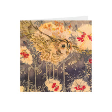 Owls in Wonderland - Flying Owl - Greeting Card - S_13