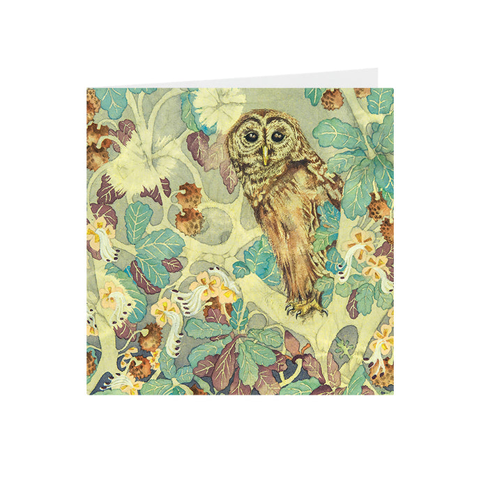 Owls in Wonderland - Hoot Owl - Greeting Card - S_17