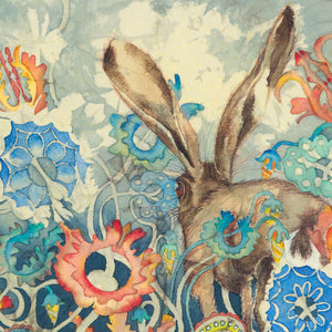 Hares in Wonderland - Cyclamen & Hare - Greeting Card - S_19