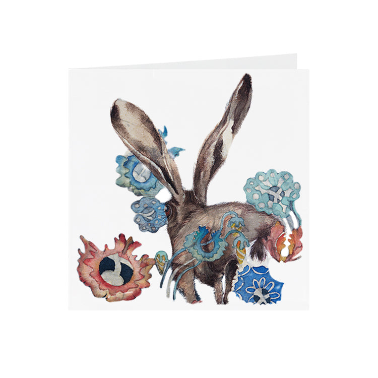 Hares in Wonderland - Running Hare - Greeting Card - S_29