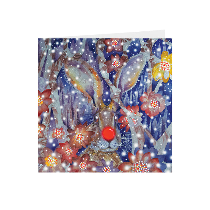 Christmas - Christmas Hare - Greeting Card - S_34