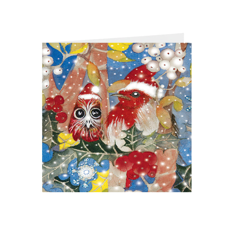 Christmas - Christmas Robins - Greeting Card - S_36